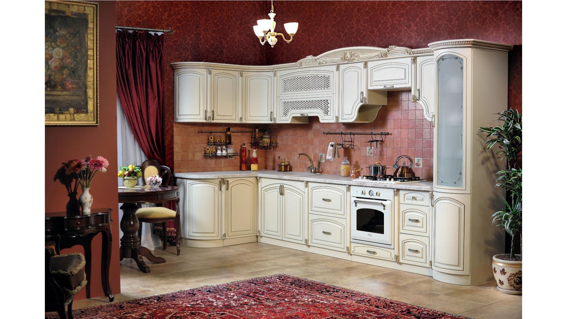 кухня Мадлен крем угловая