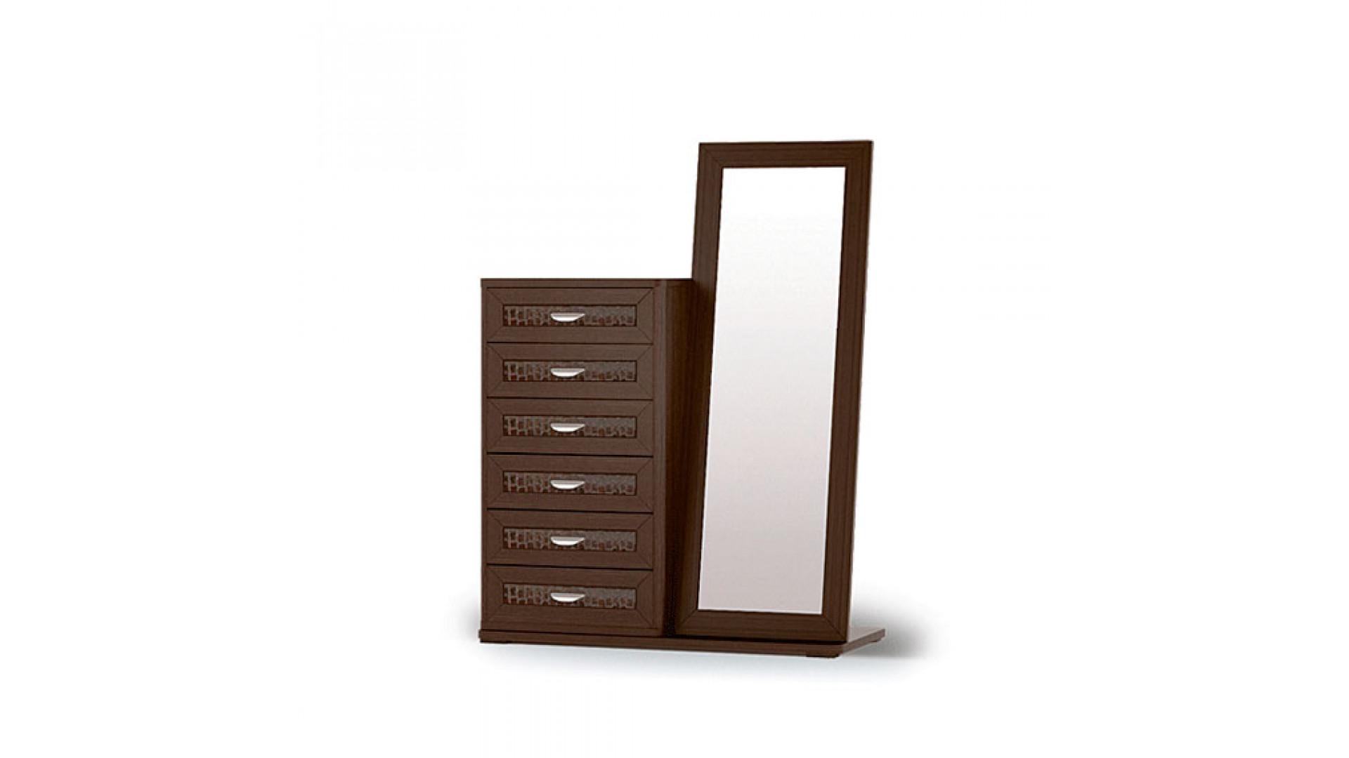 комод высокий с зеркалом Кураж Парма