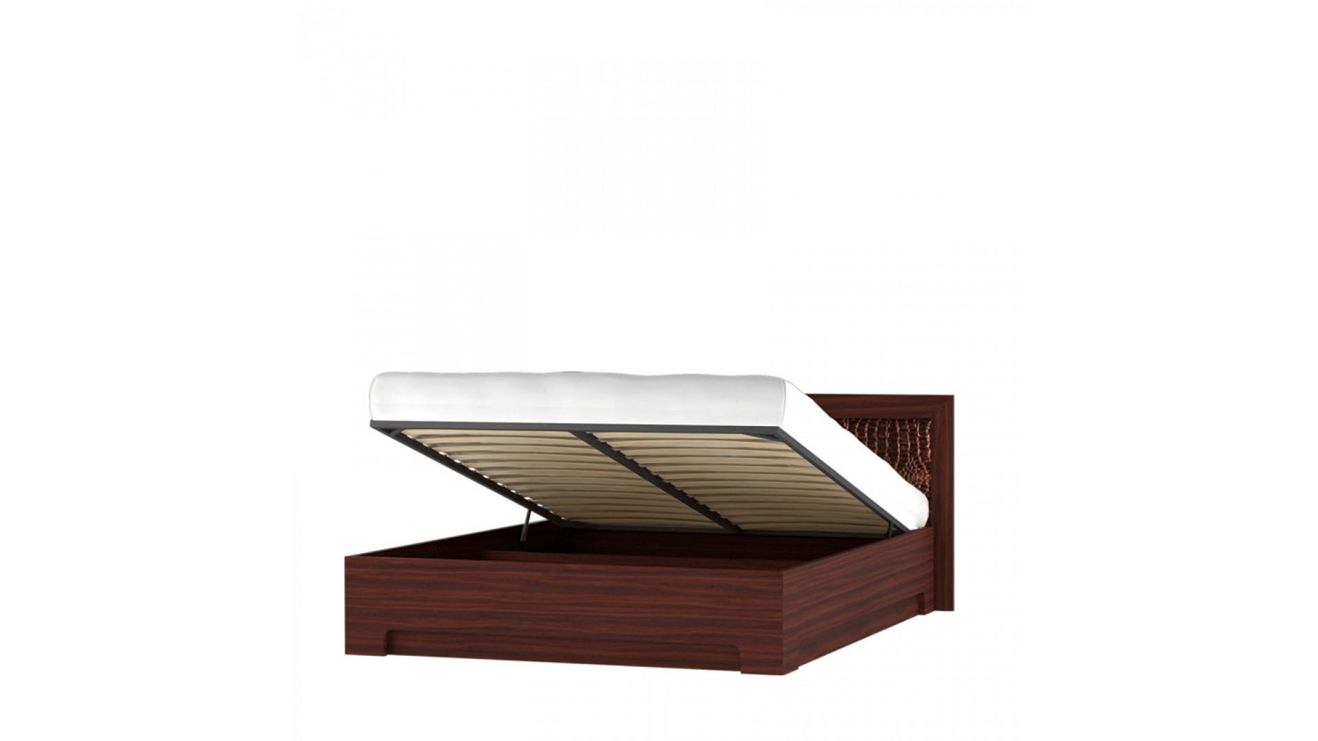 кровать 160х200 с подъемным механизмом и мягким изголовьем (модель 1) Кураж Тоскана дуб тортона