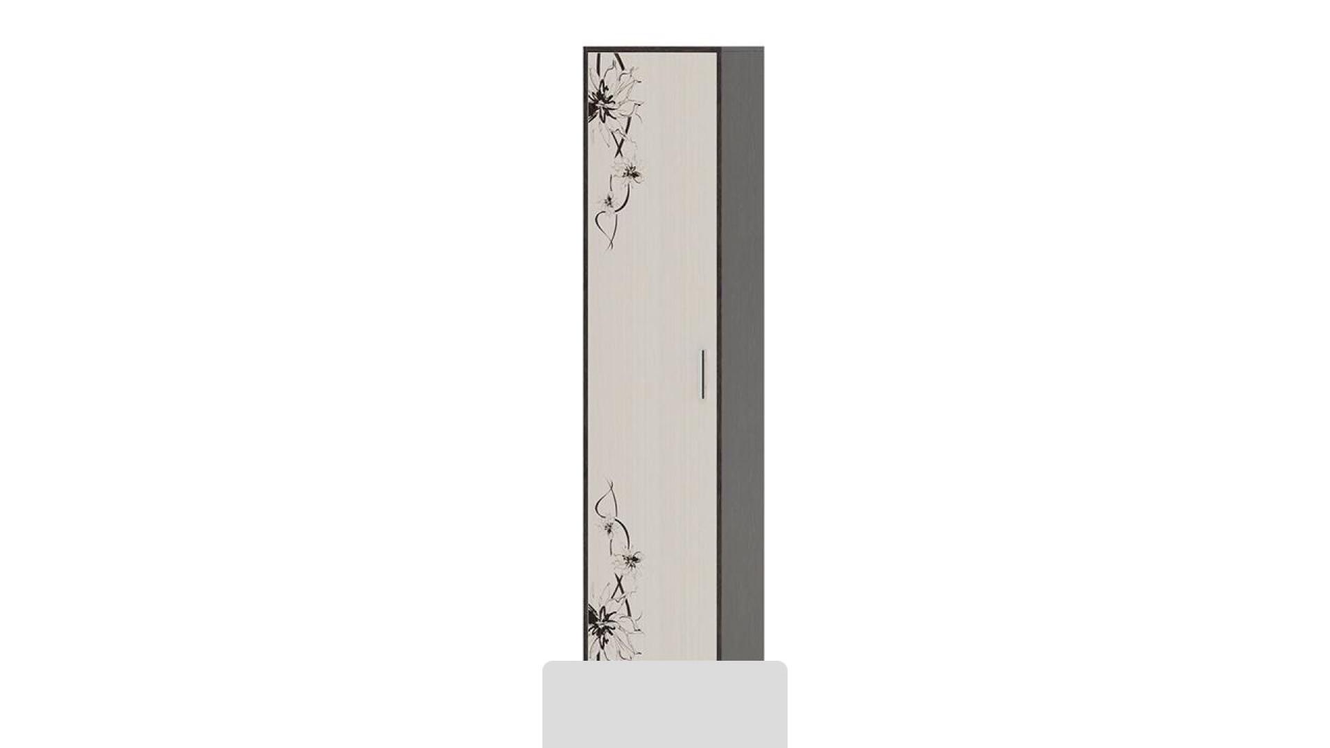 Шкаф Витра тип 1 (Венге Цаво/Дуб Белфорт с рисунком)