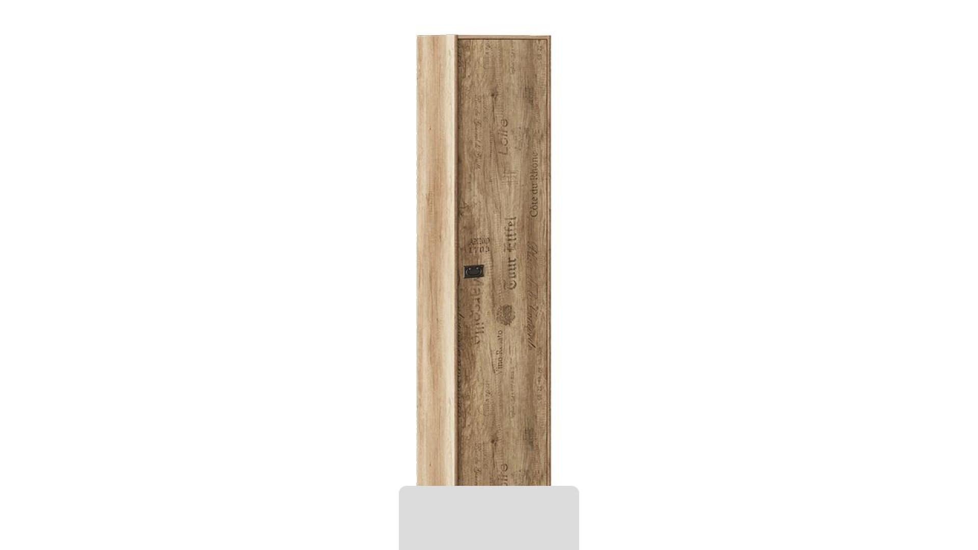 Шкаф для белья Пилигрим (Дуб Каньон светлый, Фон серый)