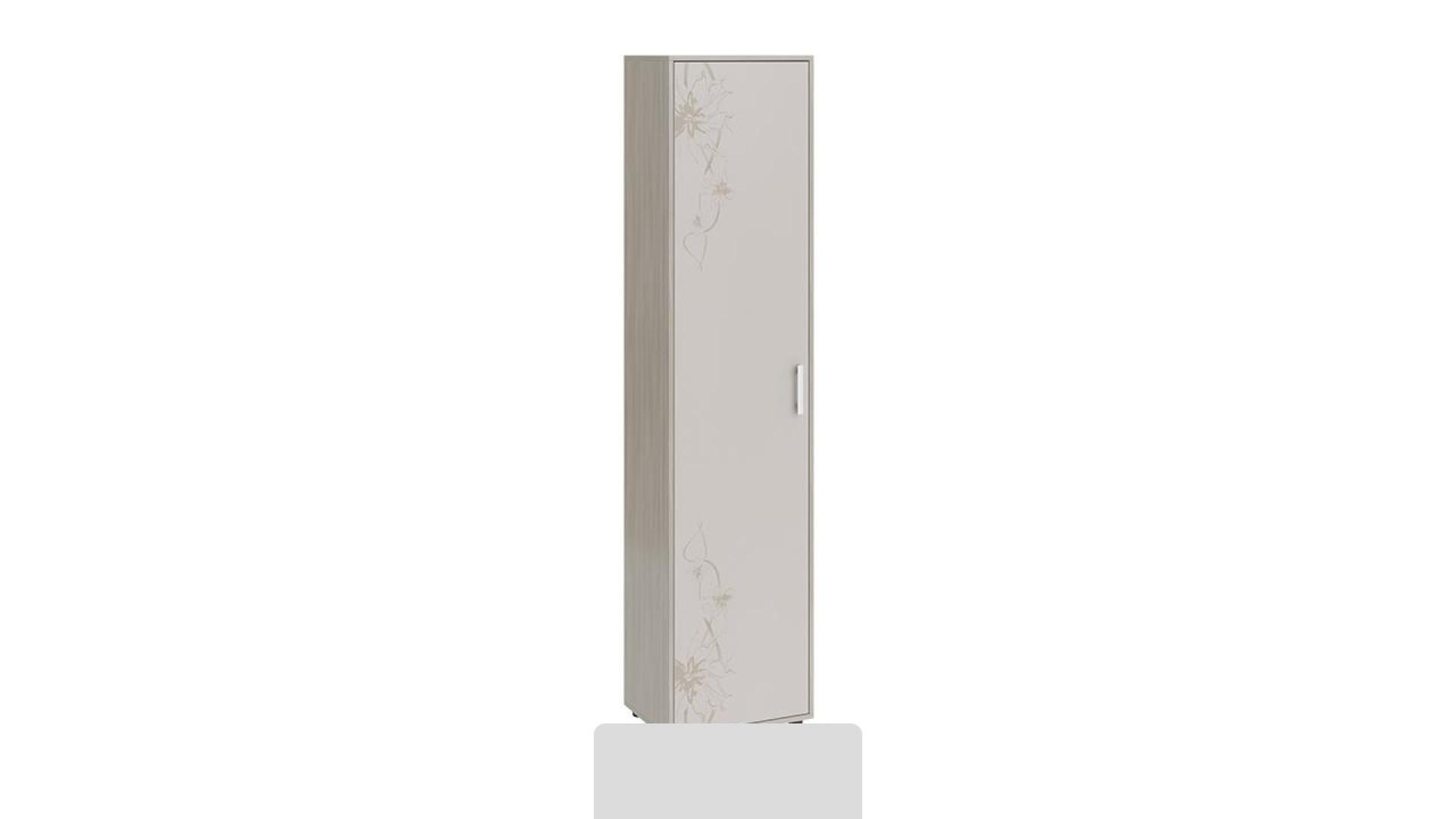 Шкаф Витра тип 1 (Ясень шимо/Бежевый фон глянец с рисунком)