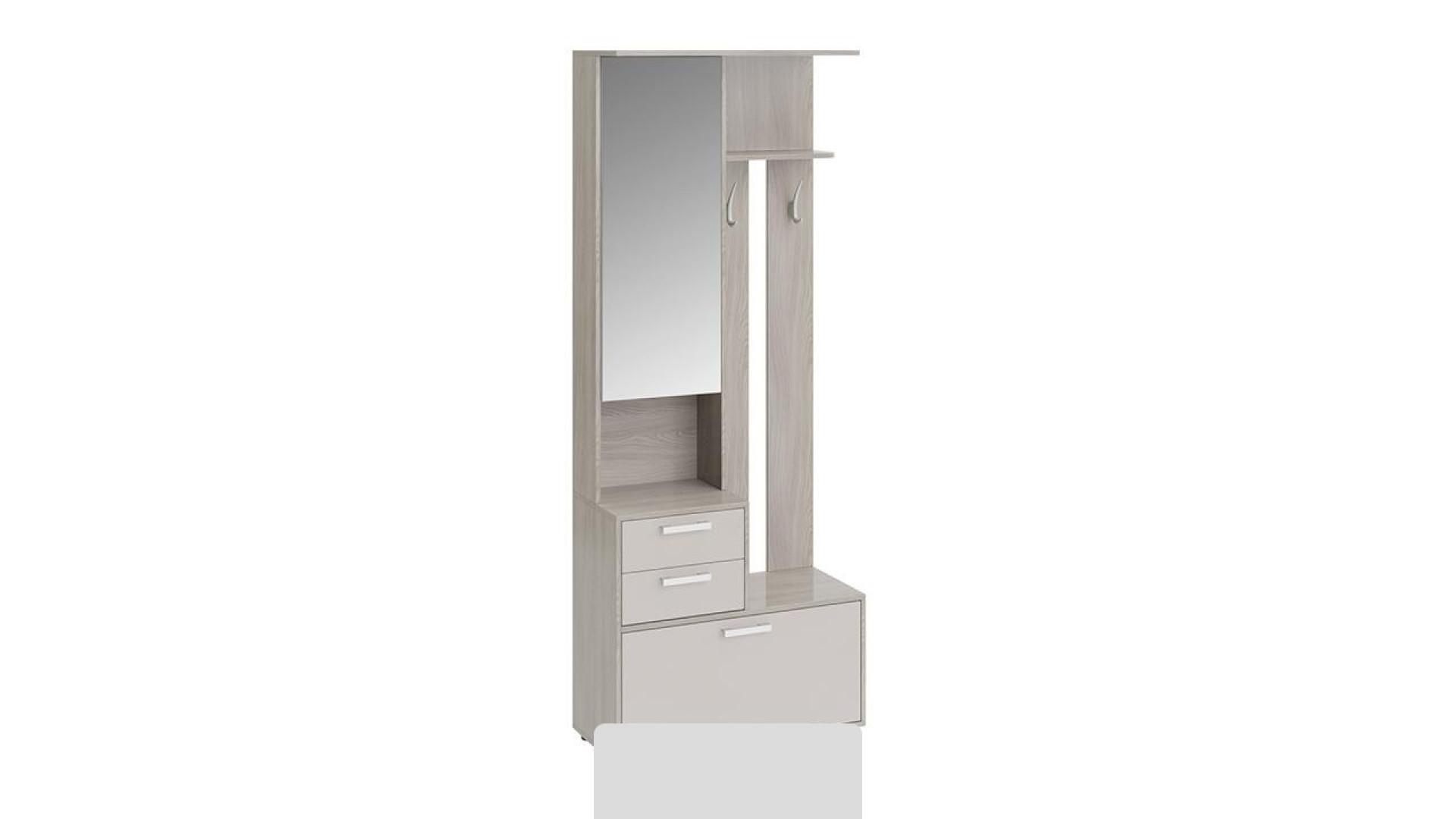 Шкаф-секция комбинированная Витра тип 1 (Ясень шимо/Бежевый фон глянец)