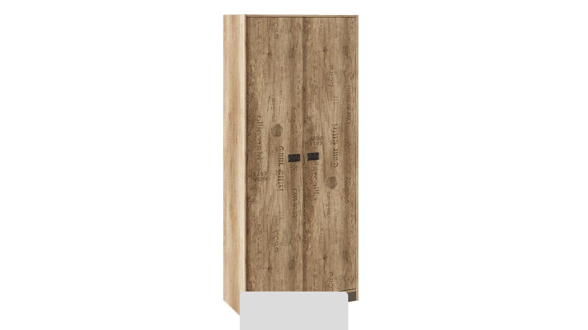 Шкаф для одежды Пилигрим (Дуб Каньон светлый, Фон серый)