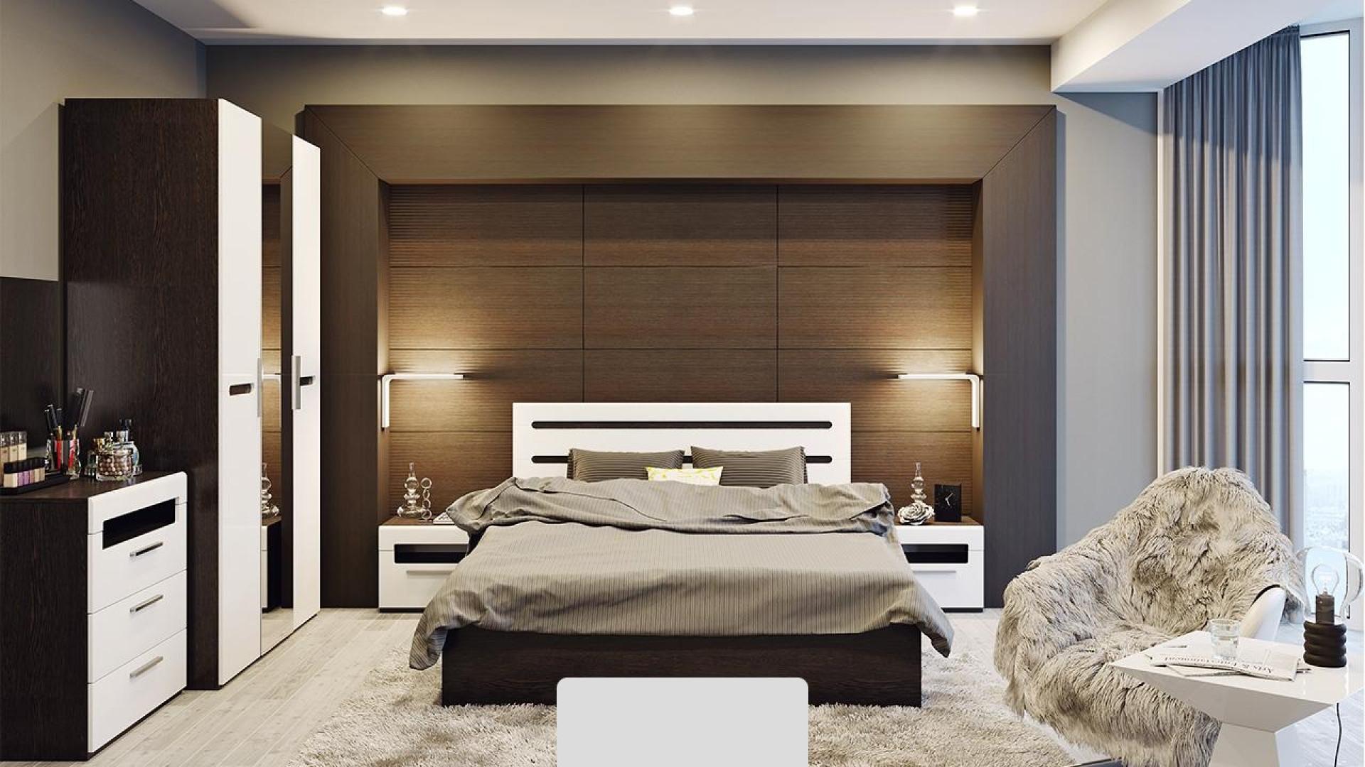 Кровать 1,6м Спальня Фьюжн