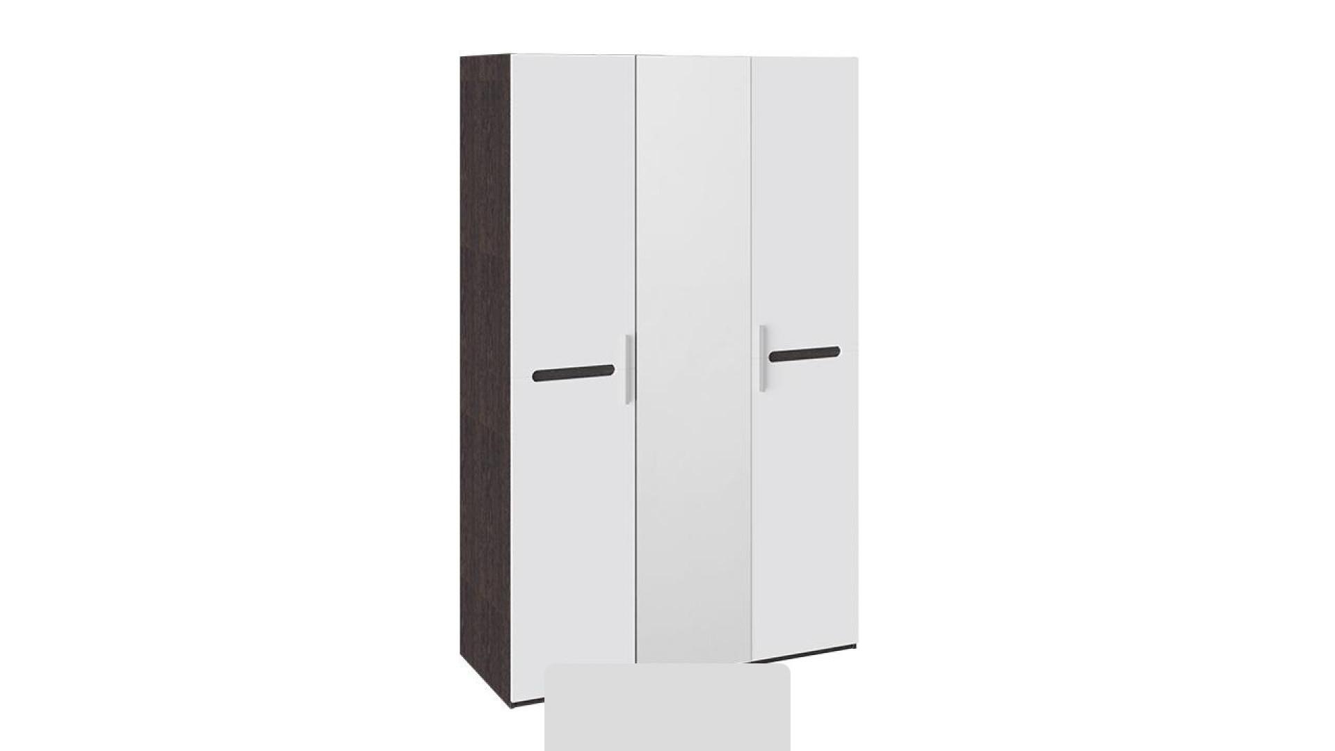 Шкаф комбинированный с 3-мя дверями Фьюжн (Белый глянец, Венге Линум)